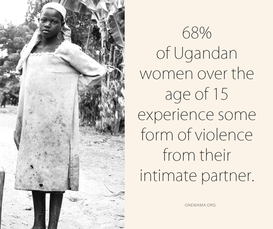 58% of Ugandan adult women are physically assaulted by their intimate male partner.