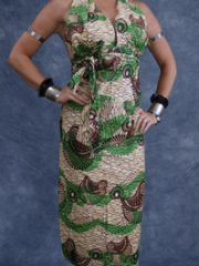 African Print Halter Dress – Tea Length