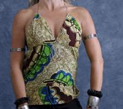 African Print Baby Doll Tank