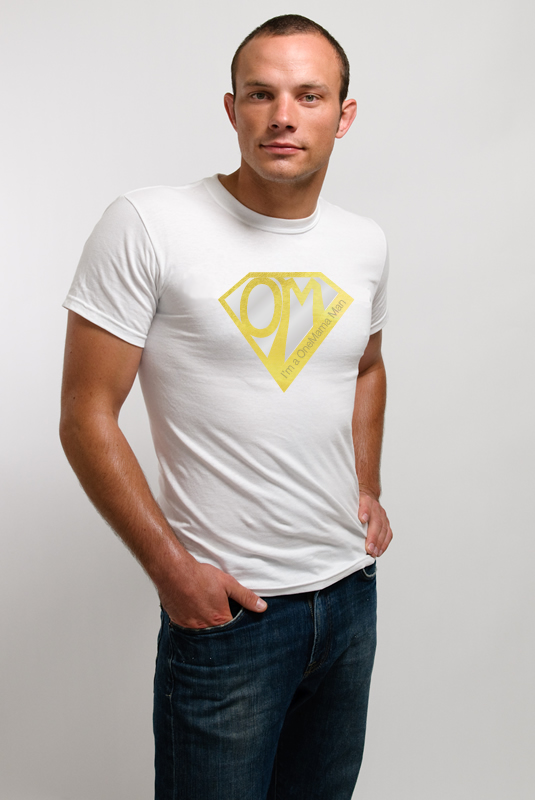 OneMama Action Hero - Men's T-shirt - Metallic Gold