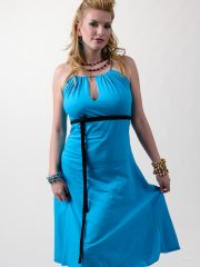 Short Tear Drop Dress - Aqua