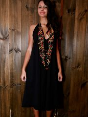 Short Tear Drop Dress - Black