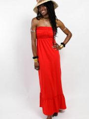 OneMama Classic Tube Dress - Red (shown without tie)