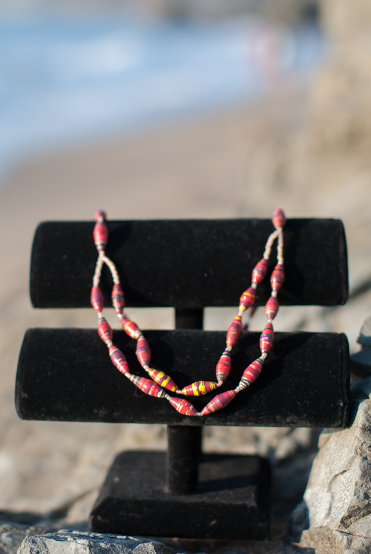 OneMama Double Strand Paper Bead Necklace