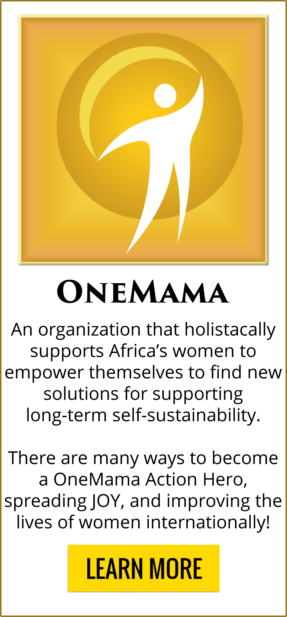 OneMama is a charity fighting for the JOY of others!