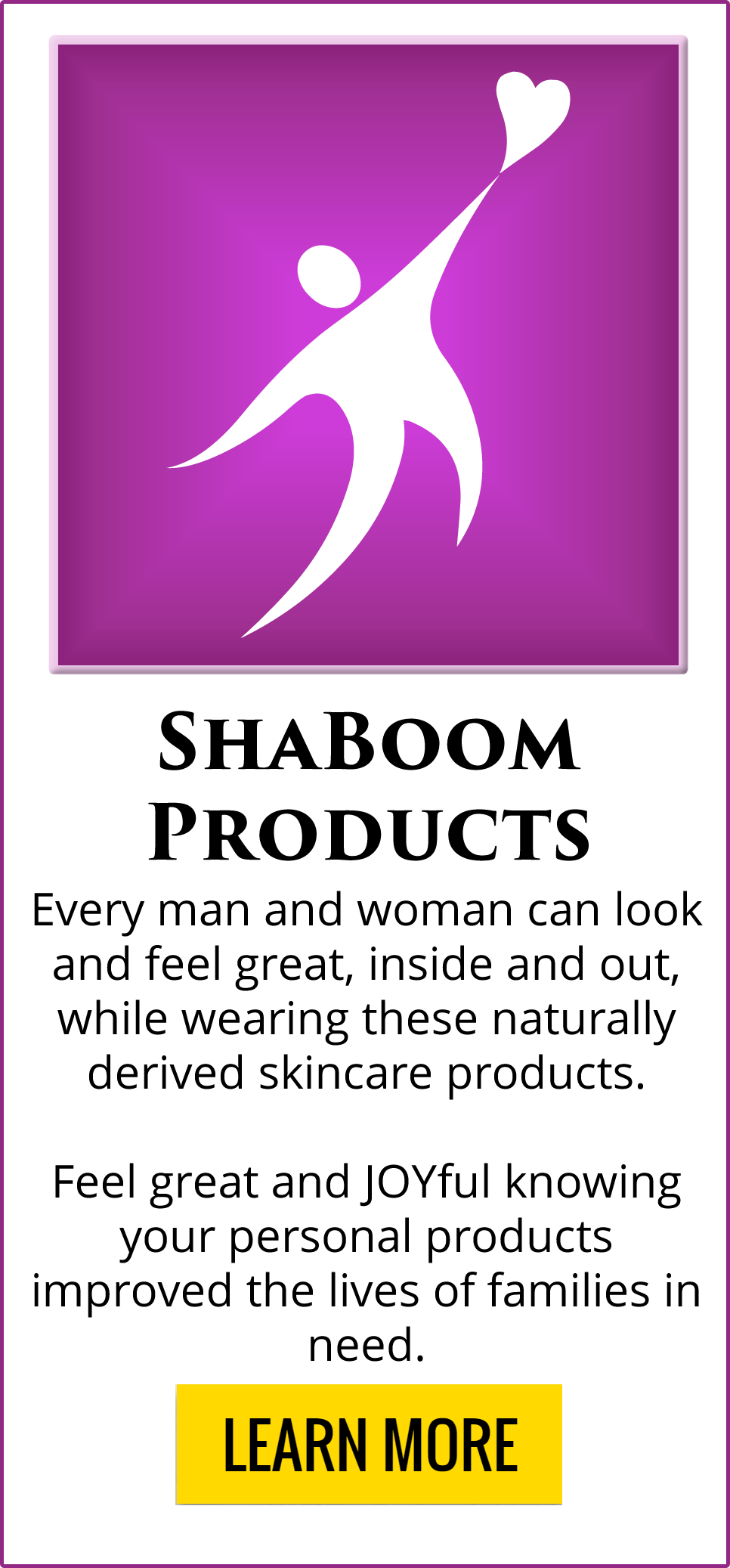 ShaBoom Products created to help OneMama and Fighting for the JOY of Others!